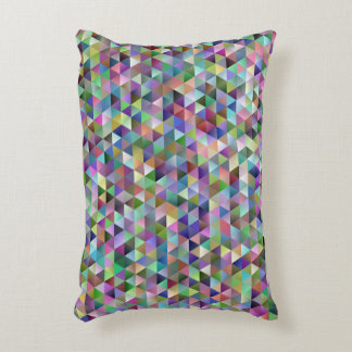 Happy triangle pattern decorative pillow