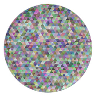 Happy triangle pattern plate