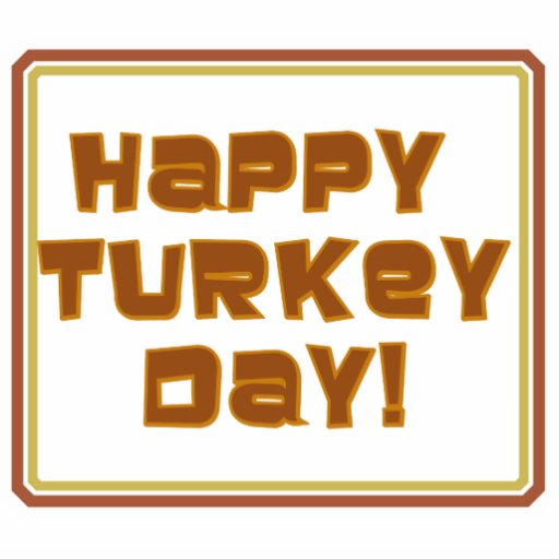 Happy Turkey Day Text Design Cut Outs