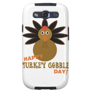 Happy Turkey Gobble Day Thanksgiving Galaxy SIII Covers