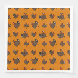 Happy Turkey Pattern Thanksgiving Napkins Paper Napkin