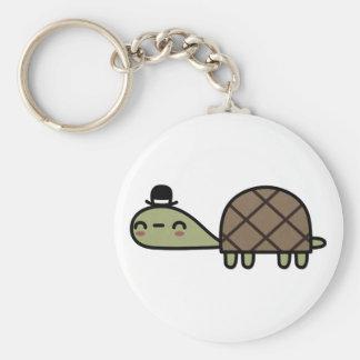 Happy Turtle Basic Round Button Keychain