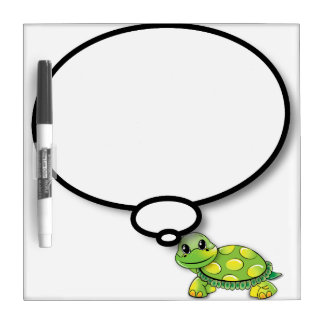 Happy turtle comic balloon Dry-Erase board