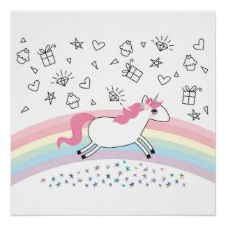 Happy unicorn poster