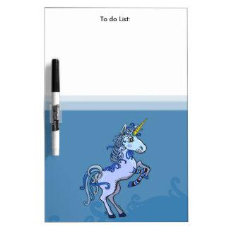Happy Unicorn Power Dry Erase Board