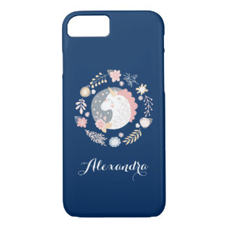 Happy Unicorn Whimsical Personalized iPhone 8/7 Case