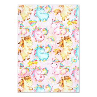 Happy Unicorns Pattern-Unicorn Love in Pink Card