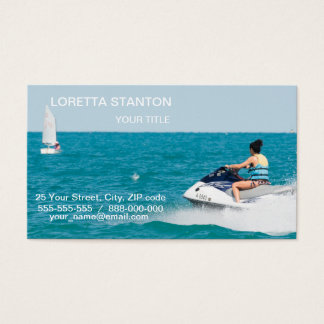 Happy vacations business card