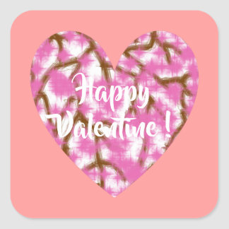 Happy Valentine 3 inch sticker - 4