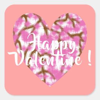 Happy Valentine 3 Inch sticker (Large)