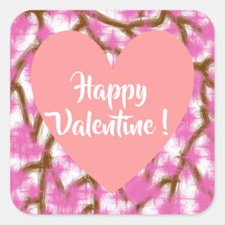 Happy Valentine 3 Inch sticker (Large) - 2