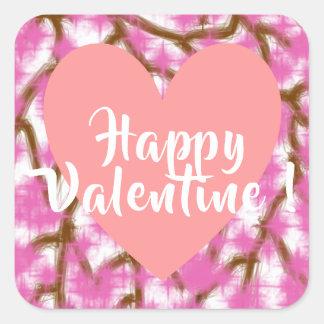 Happy Valentine 3 Inch sticker (Large) - 3