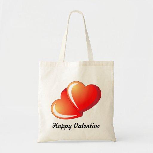 Happy Valentine Canvas Bag