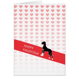 Happy Valentine Great Dane Card