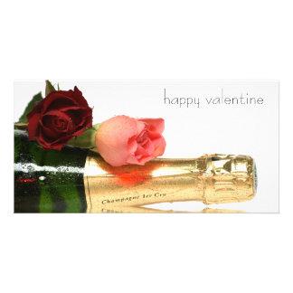happy Valentine Photo Card Template