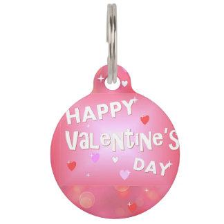Happy Valentine's day background Pet ID Tag