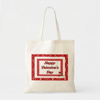 Happy Valentine's Day Canvas Bag