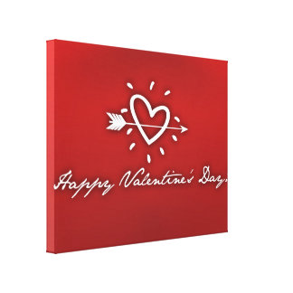 Happy Valentine's Day Gallery Wrapped Canvas