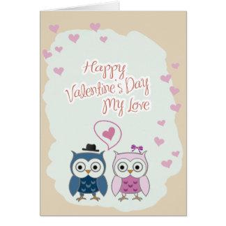 Happy Valentine's Day Card Owl Couple