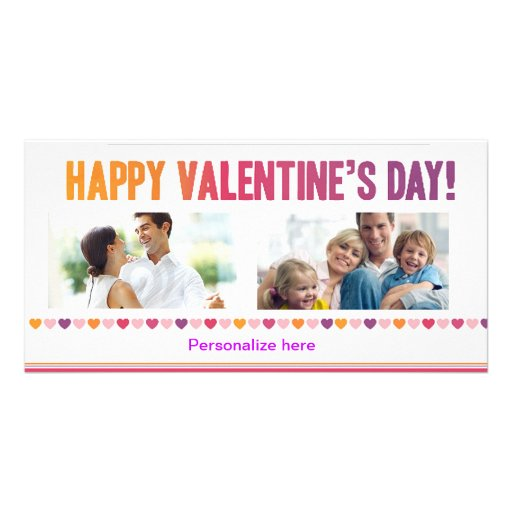 Happy Valentine's Day Card Personalized Photo Card