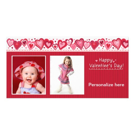 Happy Valentine's Day Card Photo Greeting Card