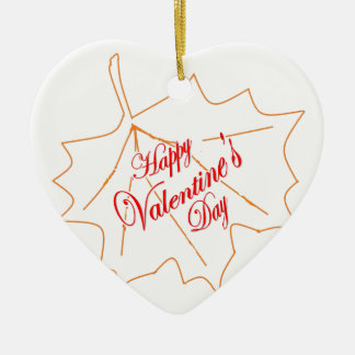 Happy Valentine's Day Ceramic Ornament