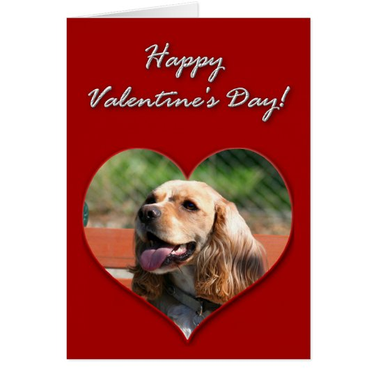 Happy Valentine's day Cocker Spaniel Card