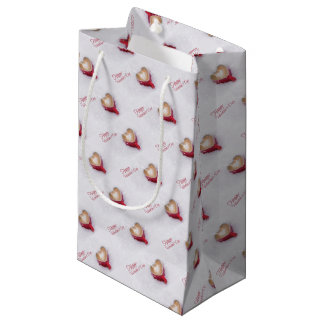 Happy Valentines Day Cup of Coffee Small Gift Bag
