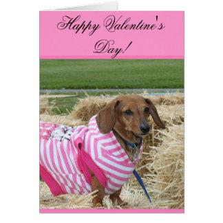 Happy Valentine's Day Dachshund greeting card