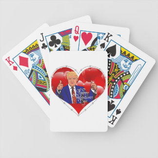 happy valentines day donald trump bicycle playing cards