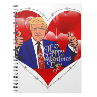happy valentines day donald trump notebook