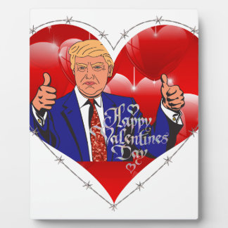happy valentines day donald trump plaque