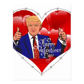 happy valentines day donald trump postcard