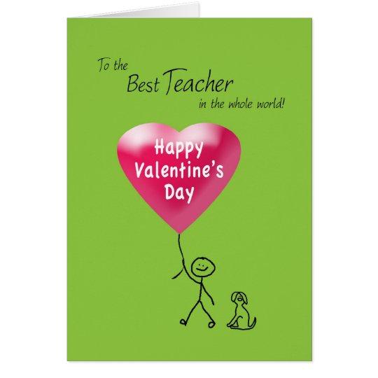 Happy Valentine's Day for Teacher Card