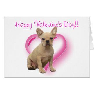 Happy Valentineu0026#39;s Day French Bulldog Greeting Card