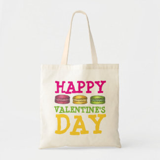 Happy Valentine's Day French Macaron Cookie Bag