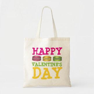 Happy Valentine's Day French Macaron Cookie Bag