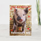 Happy Valentines Day Funny Piglet Christmas Card
