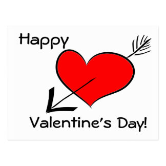 Happy Valentine's Day Funny Red Heart Template Pos Post Cards