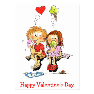 Happy Valentines Day Funny Valentines Cards Postcard