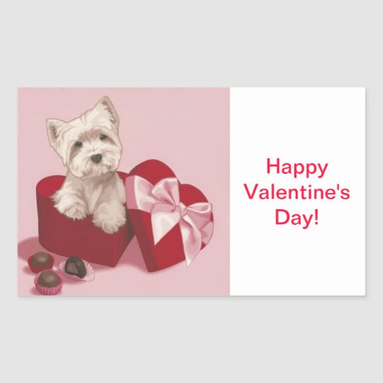 Happy Valentine's Day Gift Tag Westie Gift Tags St