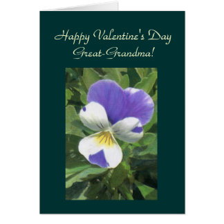 Happy Valentine's Day, Great-GrandmaTemplate Card