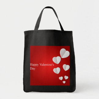 Happy Valentine's Day Grocery Tote Bag