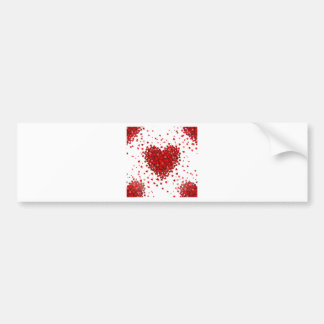 happy valentines day hearts bumper sticker