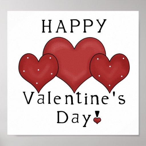 Happy Valentine's Day Hearts D7 Print/Sign | Zazzle