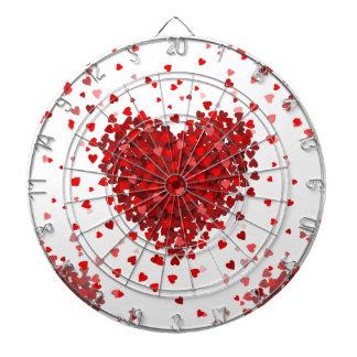 happy valentines day hearts dartboard