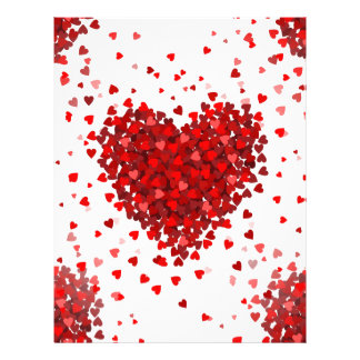 happy valentines day hearts letterhead