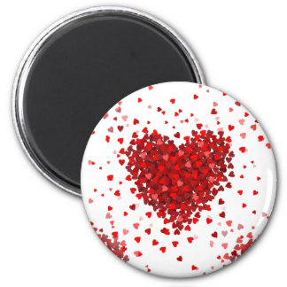 happy valentines day hearts magnet
