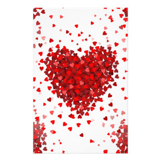happy valentines day hearts stationery