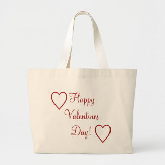 Happy Valentines Day! Large Tote Bag